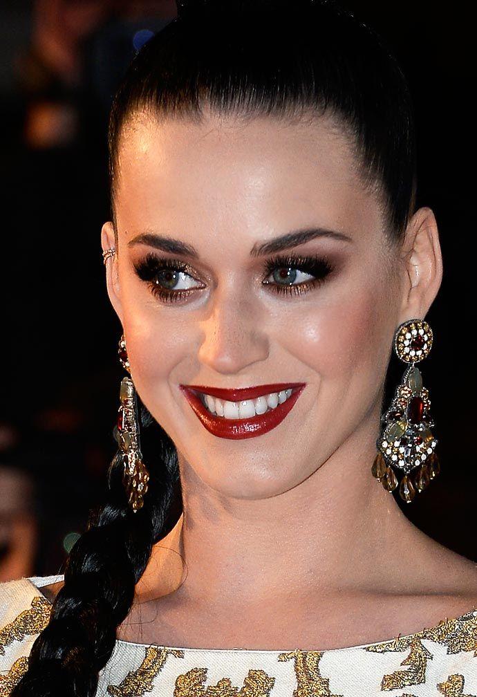 A maquiagem natalina de Katy Perry
