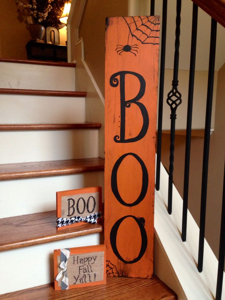 Fall Halloween Craft Ideas Part - 25: Halloween Wood Art $25-$7