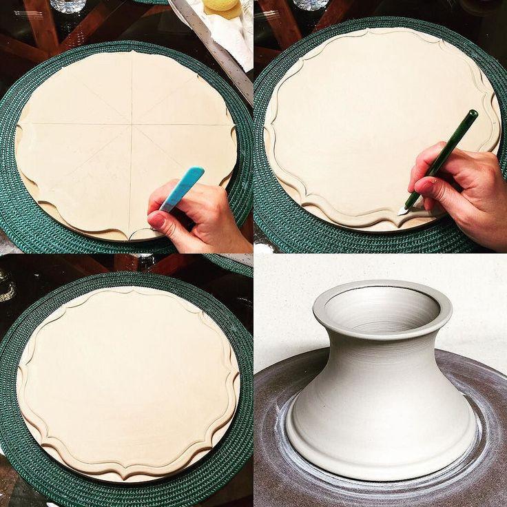 #wedding #potterytechniques #pottery#weddingcakestand #cakestand #weddindcake #makingcakestands #ceramics #etsy #handthrown #handcraftedpottery #handmade #potterylove #ceramica #creativity #wheelthrown #slabbuiltpottery #potterycakestand