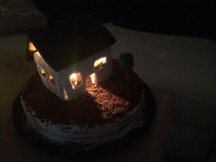 """Cake """"New House"""" (Red velvet + gingerbread)"""