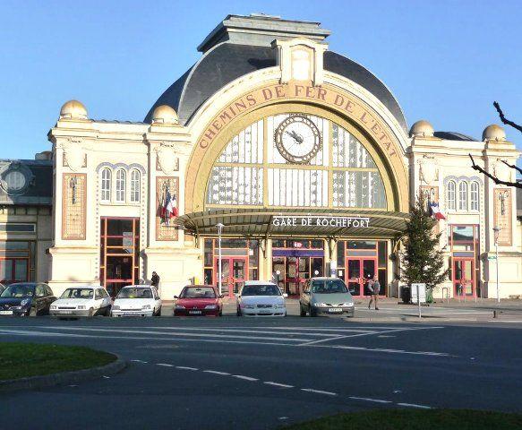 Rochefort, France - La Gare - Beaux-arts style architecture