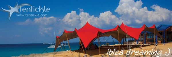 Beach tent on Ibiza