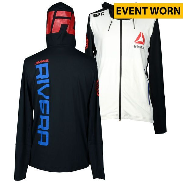 Jimmie Rivera Ultimate Fighting Championship UFC Fight Night Bisping vs. Leites Event-Worn Walkout Hoodie - Defeated Marcus Brimage via First Round Knockout - $299.99