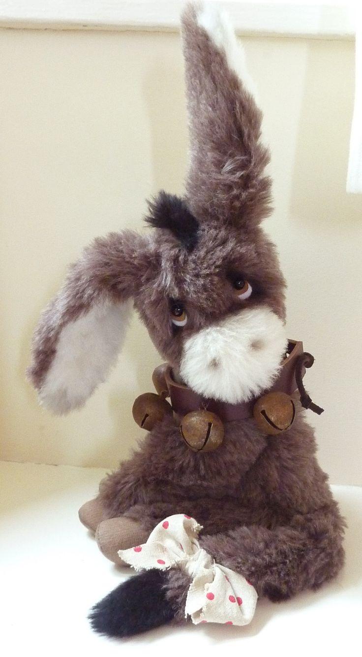 Mohair Artist Bear/Donkey by Paula Drage
