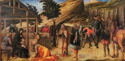 Jacopo Bellini. Olio su tavola. 1459-1460. Pinacoteca Nazionale di Ferrara. Insieme alle tavolette del Museo Correr e dei Musei Civici agli Eremitani formava la predella di una pala eseguita da Jacopo e figli per la cappella Gattamelata al Santo