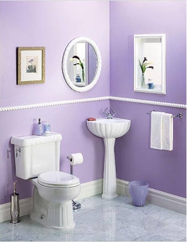 17 best ideas about purple bathrooms on pinterest purple for Beautiful small bathrooms