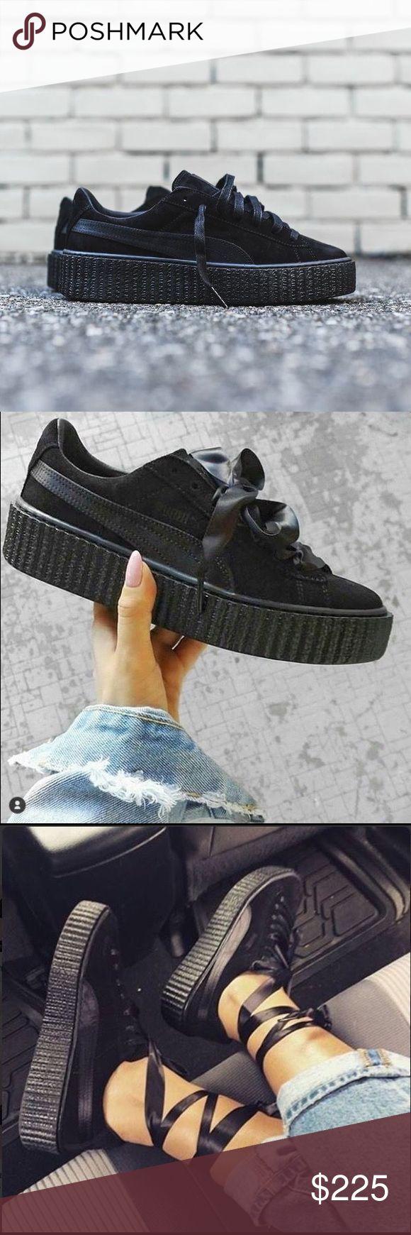 Puma x Rihanna Creepers in Black Satin Puma x Rihanna Creepers in Black Satin. Brand new with original box + laces. Cheaper through depop or ️️ Puma Shoes Sneakers