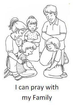 i can pray with my family coloring sheet primary lessonslds