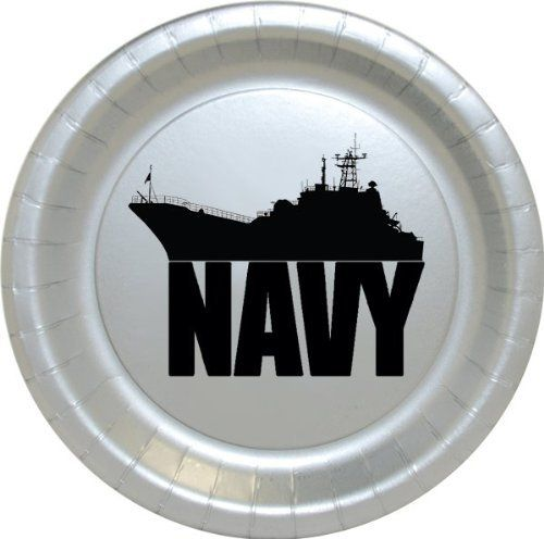 These US NAVY SHIP DESSERT PLATE (8/PKG) from http://www.amazon.com/dp/B00JVY1230/ref=cm_sw_r_pi_awdm_pox7tb0569GAX would be a good idea for the cake portion of my sons Graduation / US Navy Going Away party.
