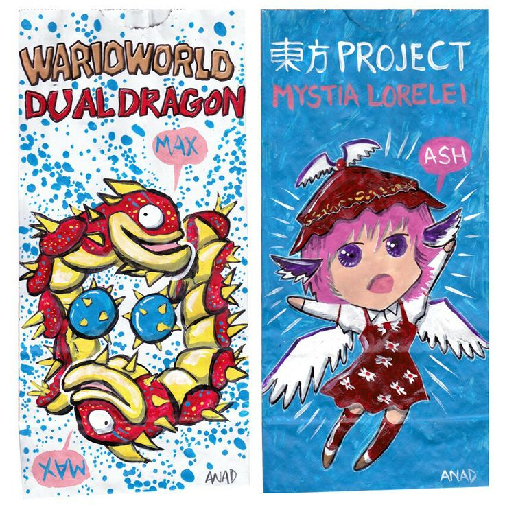 20140415#Sketch #lunchbags for my #sons.#videogames #art #drawing #anad #school #paint #markers #doodles #kids #bag#TouhouProject #MystiaLorelei #cartoon #anime #japan #manga #sketch #sketchlunchbag#MarioBros #WarioWorld #DualDragon #VideoGames #cartoon #MacOS #PC #iOS #Android #app #XBox #Nintendo #WiiU #GameCube  http://en.m.wikipedia.org/wiki/Touhou_Project