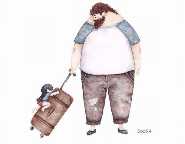 【大きくて優しい愛】父と娘の日常を描いたイラストに心温まる人続出中(11枚) | COROBUZZ