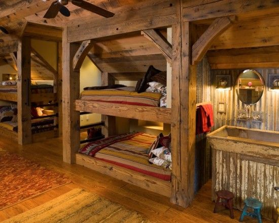 Omg I Love This The Bunk Beds Would Be Fabulous In A Deer Camp