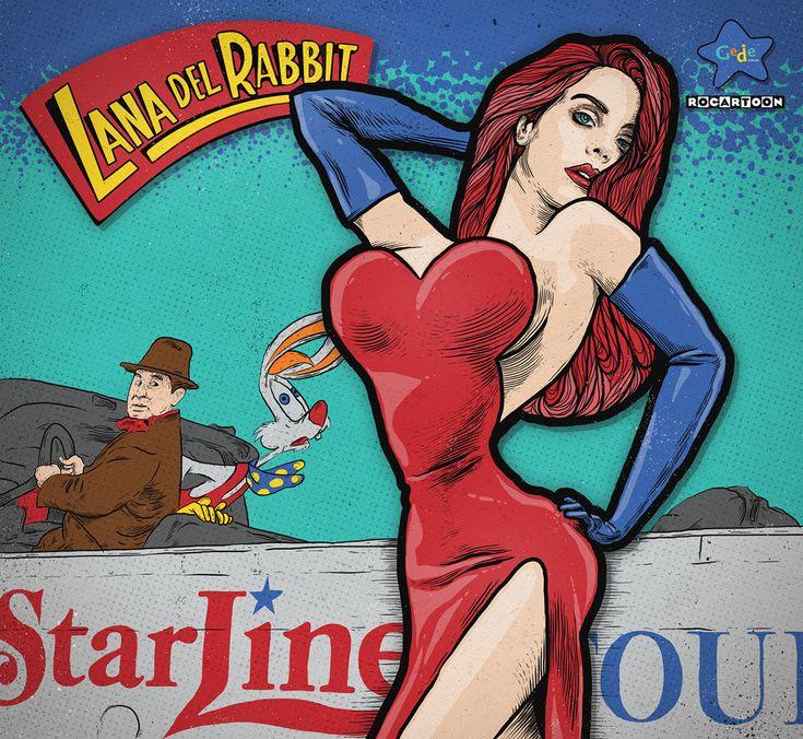 LANA DEL RABBIT LANA DEL REY + JESSICA RABBIT (¿Quién engañó a Roger Rabbit?)