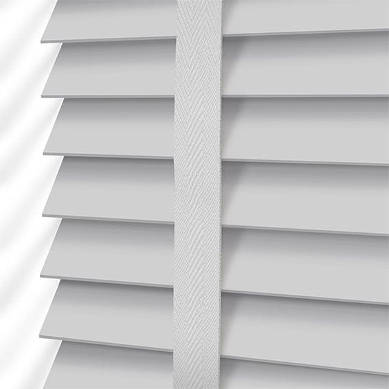 pearl grey u0026 mist wooden blind with tapes 35mm slat