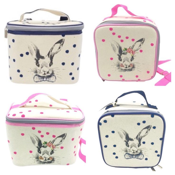 Lunch times and meal prep has never been cuter with these stunning Lunch Bags! Insulated to keep food warm and cool for days out with your little ones! We are so in love with its vintage Benson and Bella Bunny designs!