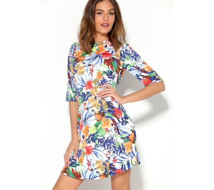 Šaty s barevným tropickým potiskem | modino.cz #ModinoCZ #modino_cz #modino_style #style #fashion #dress