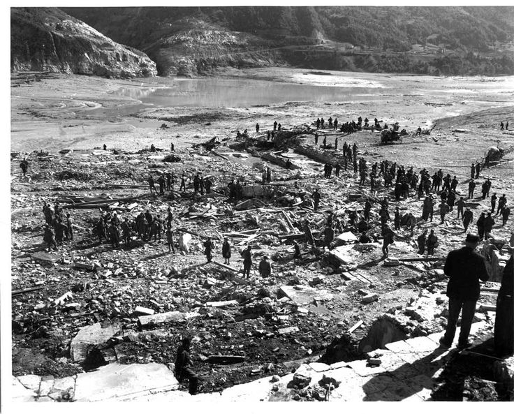 09.10.1963, Vajont (Longarone - Italy) flooding destroyed several villages in the valley and killed almost 2,000 people.