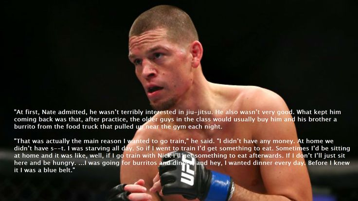 Nate Diaz on his childhood and why he started BJJ in the first place. - Imgur