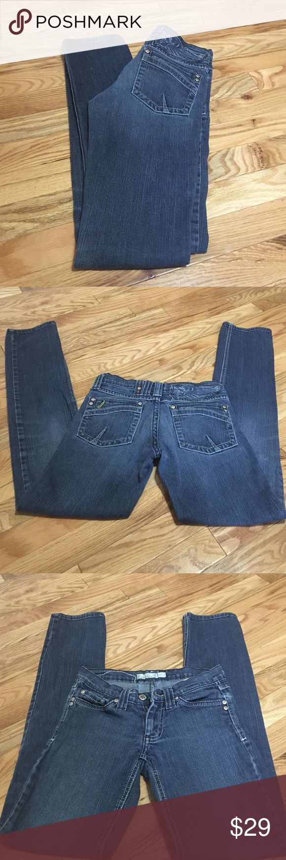 Flying Monkey 🐒 skinny jeans Flying Monkey size 1 inseam 29 skinny jeans perfect condition no rips, stains, holes, or fraying. Style# L1110 cut#131M. 1rst pic for fit only not color of jeans. Jeans are blue jean color. Flying Monkey  Jeans Skinny