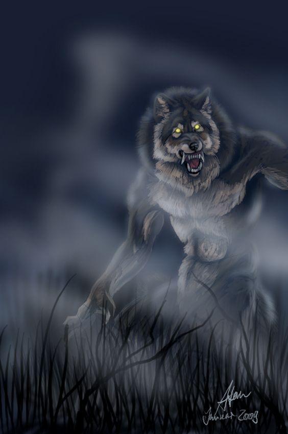A werewolf under the crimson glow of a blood moon. Stocks: 1 2 3 4 5 6 7