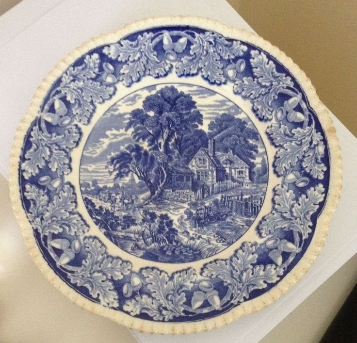 1929 Blue & White Plate James Norris Ltd Wine Spirit Merchants Burslem Hanley #DinnerPlates