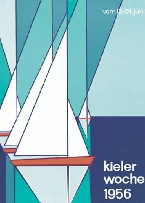 Die Motive sind echt #zeitlos! Was meint Ihr? #Kielerwoche #Plakat  Verena Mauch: Kieler Woche 1956