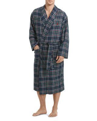 POLO RALPH LAUREN Anderson Plaid Flannel Robe. #poloralphlauren #cloth #robe