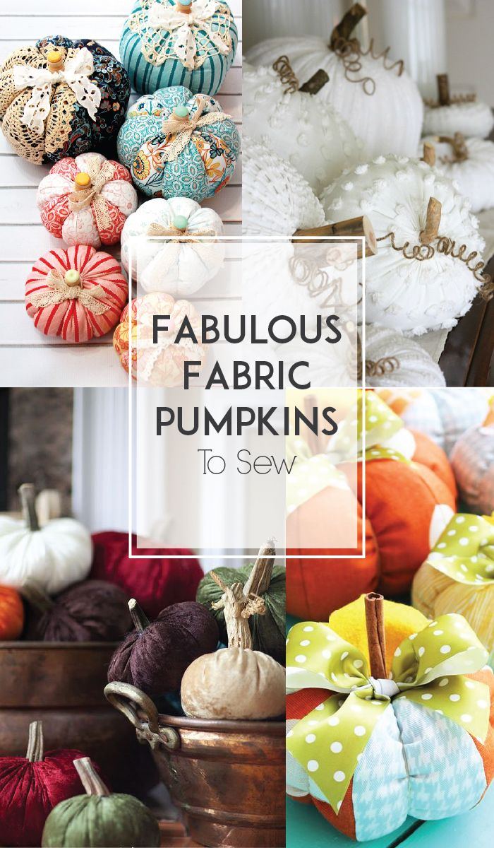 It's Fall!! It's time for sweaters and cute scarves and cider and of course – all things pumpkin! I've gathered up some darling fabric pumpkin tutorials – so you don't have to wait for them to hit the stores or worry about them getting old – you can decorate with them for as long as …