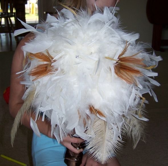 Feather boa centerpieces what can you do with a paper