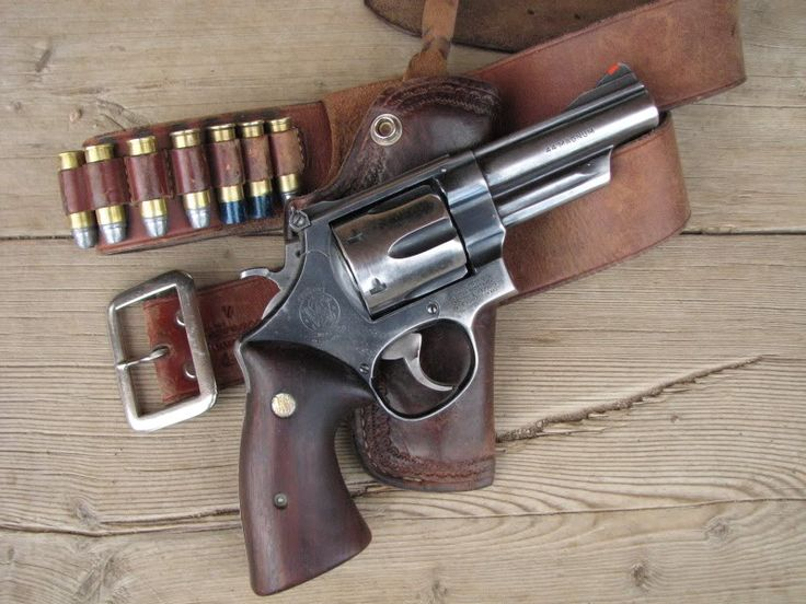 A well used S&W Model 29.
