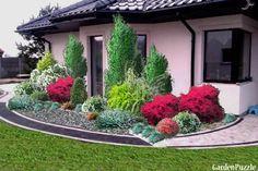 przed domem - GardenPuzzle - projektowanie ogrodów w przeglądarce