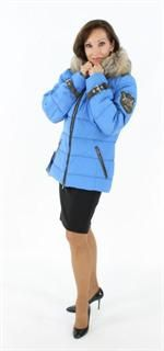 Never Lost in an Avalanche Perfect Everywhere Blue Parka with Finn Raccoon Trim