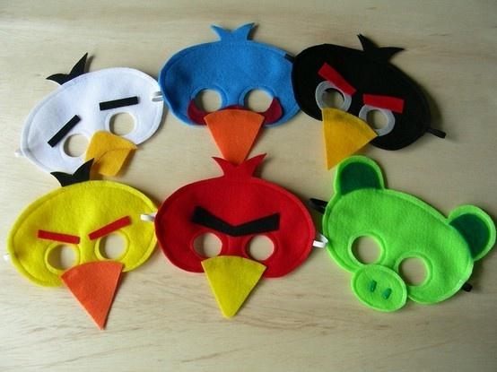 felt masks, angry birds - Google Search