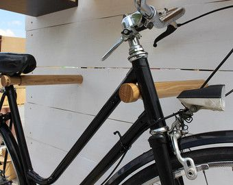 Wooden bicycle rack/ Bike stand/ Bike holder/ Minimalist bike rack//Bike hook