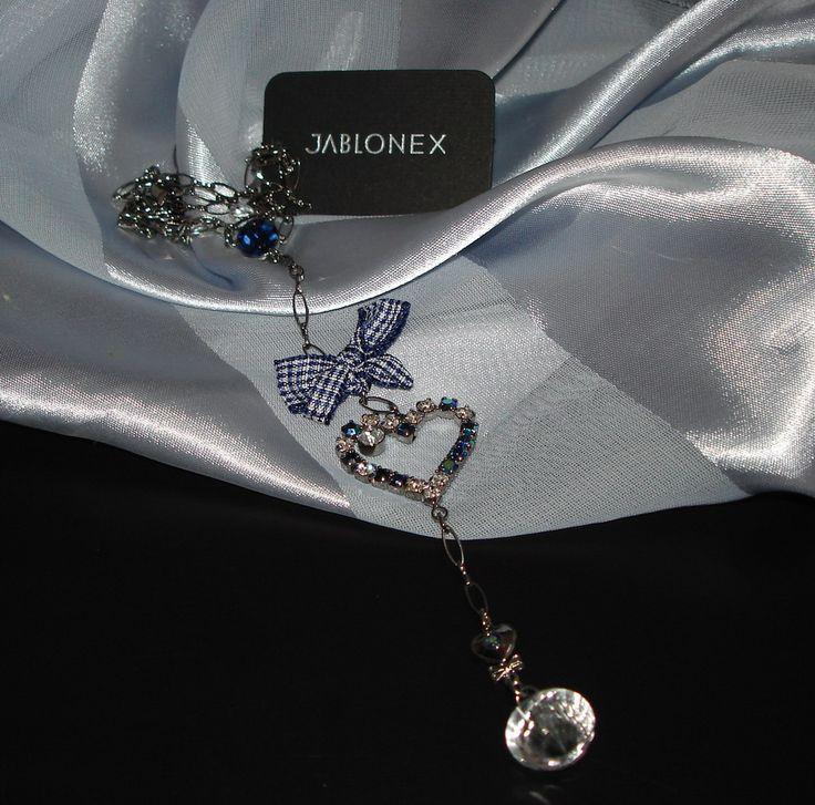 Czech Rhinestone Necklace/Choker   Strass Collier mit Herz   1A-Qualität von Jablonex *sc067 - JAUL.biz Perlen und Glas
