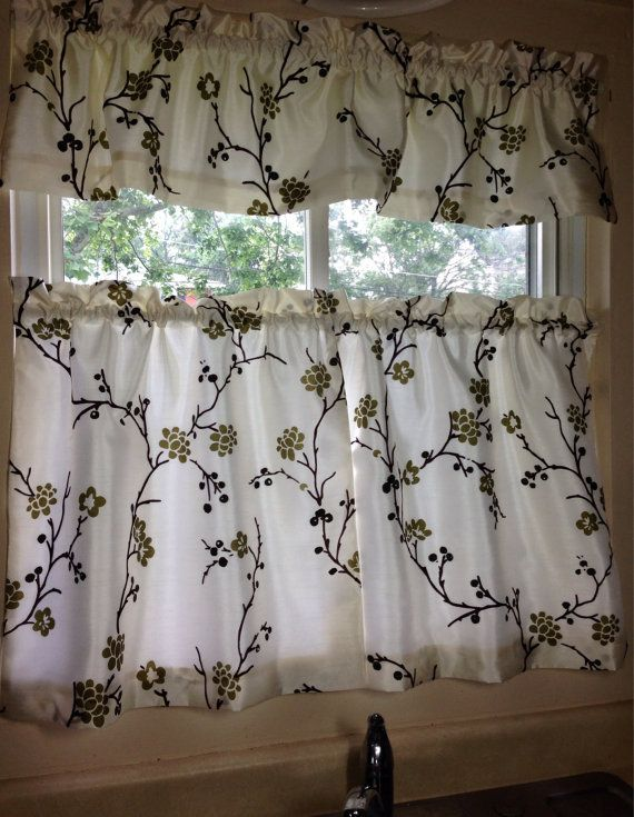 Fall Sale Handmade Cafe Curtain And Valance Set By