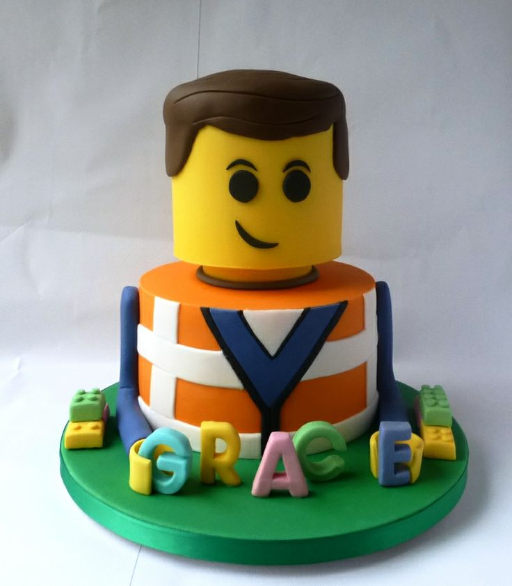 Lego Movie - Emmett Lego Birthday Cake