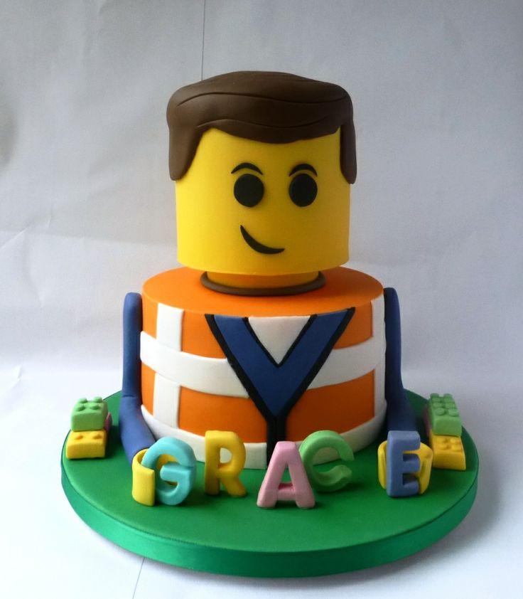 Lego Movie - Emmett Lego Birthday Cake