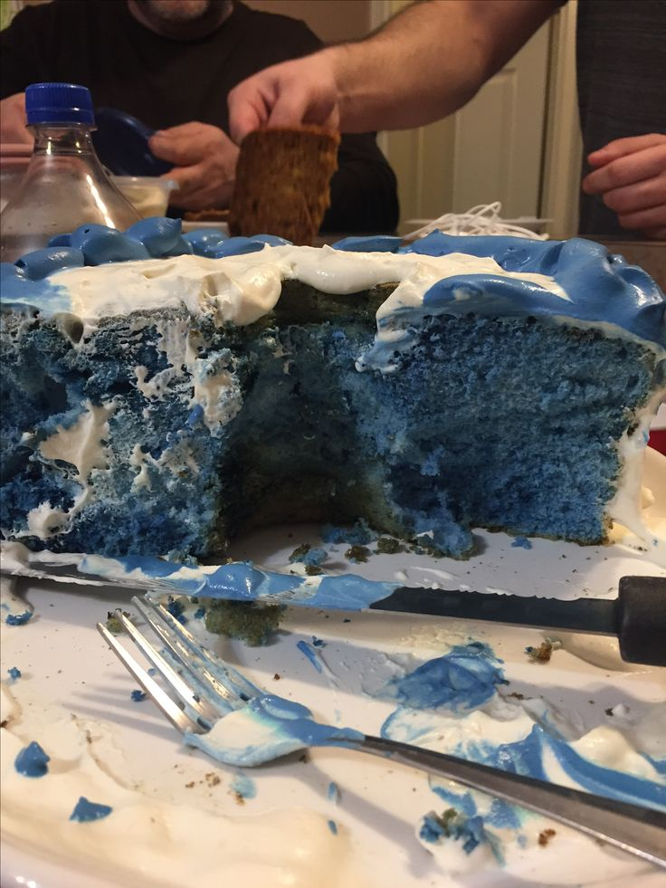 I had a blue cake for my birthday. Can we say, PERCY JACKSON❤