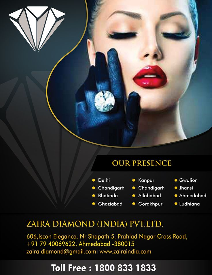 Flyer designed for a diamond company.