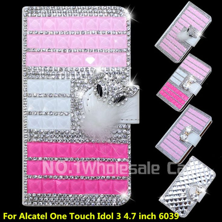 >> Click to Buy << Wallet Flip PU Leather Case Cover For Alcatel One Touch Idol 3 4.7 inch 6039 Case Cell Phone Back Cover With Card Holder (XKM) #Affiliate