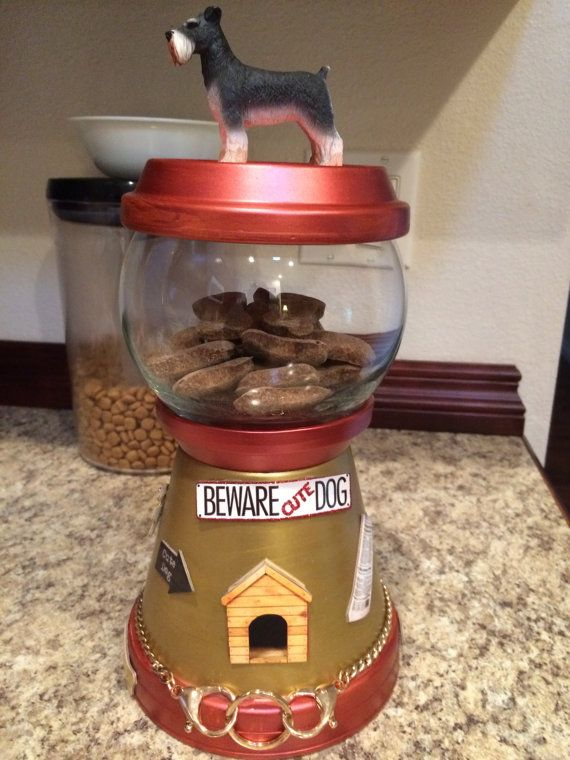 Dog Treat Candy Jar Bank Cookie Jar by UniqueDesignsGallery