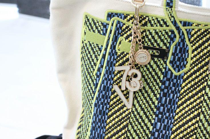 Green & Blue  #V73 Raphia #Bag Acid Green/Blue  #Shop now on https://v73.us/