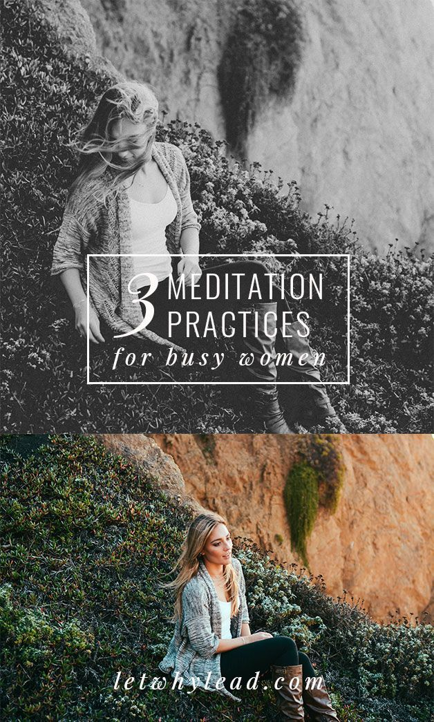 Love this! --> Interested in meditation but can't imagine where to squeeze it in? From a visualization practice you can do in bed to an app that helps you meditate WITH your family—3 meditation practices for busy women.