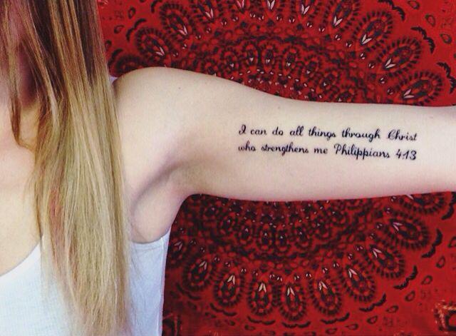 Philipians 4:13 tattoo