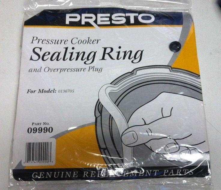 Presto 09990 Pressure Cooker Sealing Ring & Overpressure Plug Part Genuine