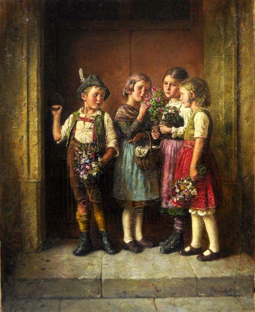 Edmund Adler (1876 – 1965, Austrian  grandmothers-birthday