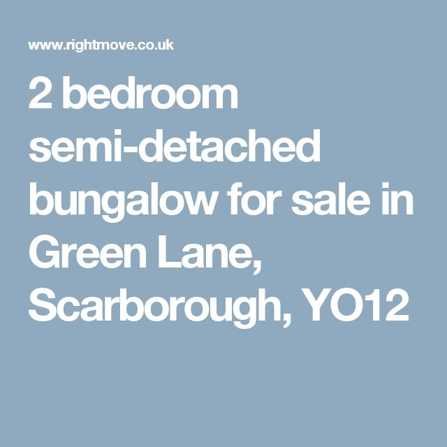 2 bedroom semi-detached bungalow for sale in Green Lane, Scarborough, YO12