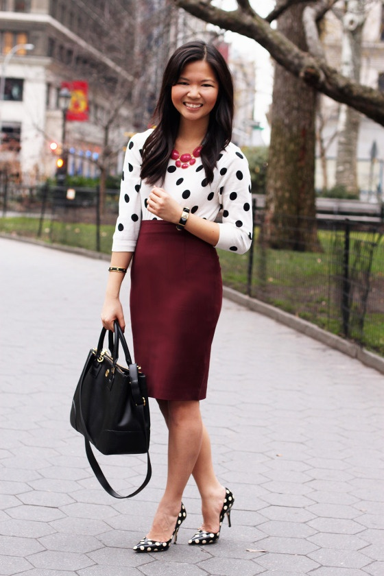 60 best Burgundy Skirt Outfits images on Pinterest
