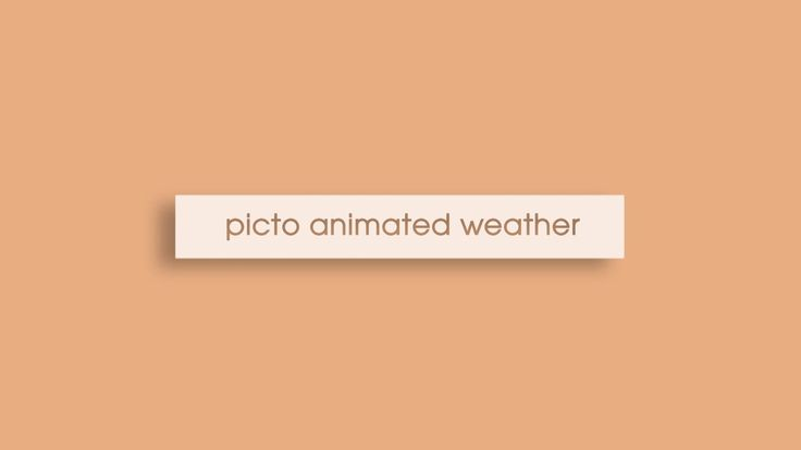 Motion Design by Guillaume Pinto Picto Animated Weather with Blender Music : Licence creative commons by Mizuki s Last Chance - Yeah